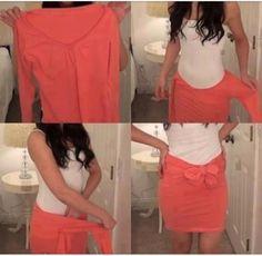 Nice cool way to make a shirt a skirt