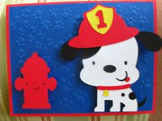 Fire Dog Birthday Card, via Flickr.
