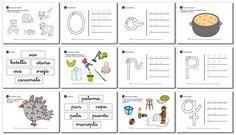 Actividades de lectoescritura para niños de 5 años y primer grado o, p, q, r, s.