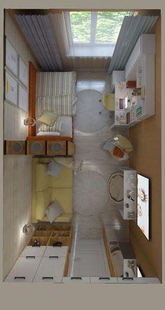 Home Studio Desk Beds 22 Ideas For 2019 Çocuk Odası Room Design Bedroom, Bedroom Layouts, Small Room Bedroom, Room Ideas Bedroom, Home Room Design, Bedroom Decor, Bedroom Ideas For Small Rooms, Small Room Layouts, Studio Apartment Decorating