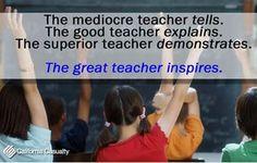 Thank God for the great teachers!
