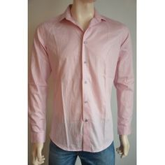 Next pánská košile, dlouhý rukáv růžová 38 cm