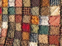 Patchwork Rag Quilt XL Queen Handmade Rustic Made to