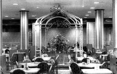 The Silver Grille at Higbee Company, Cleveland, Ohio offered afternoon tea for ladies exhausted by shopping.