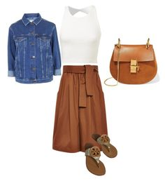 """Untitled #62"" by narrebybn on Polyvore featuring Tome, Topshop, Tory Burch, Chloé, women's clothing, women's fashion, women, female, woman and misses"