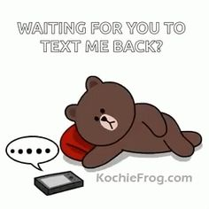 The perfect Brown Waiting Cute Animated GIF for your conversation. Discover and Share the best GIFs on Tenor. I Miss You Cute, Cute Love Gif, Cute Bunny Cartoon, Cute Love Cartoons, Cony Brown, Brown Bear, Bear Gif, Cute Bear Drawings, Gato Anime