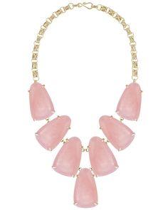 Harlow Statement Necklace in Rose Quartz - Kendra Scott Jewelry.