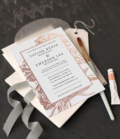 NEW Minted's 2016 Foil-Pressed Wedding Invitations collection from our community of independent artists. Design by Christie Kelly.