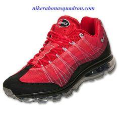Nike Air Max 95 Dynamic Flywire Mens Black Metallic Silver Team Red 554715  066 Nike Air cff6bb1e8
