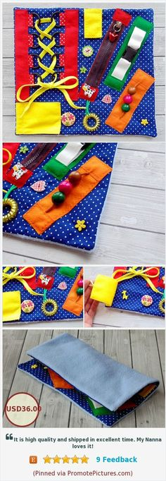 While this seems like more of a craft, I believe it can really help students who need constant stimulation. It can serve as an aid so students know what to do with their hands while working. Sensory Wall, Autism Sensory, Sensory Boards, Baby Sensory, Sensory Toys, Sensory Activities, Sensory Blanket, Infant Lesson Plans, Diy