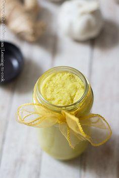 Ginger garlic paste   How to make Home made Ginger Garlic Paste   Inji Poondu Vizhudhu Learn To Cook, Food To Make, Garlic Paste, Tasty, Yummy Food, Dressings, Dips, At Least, Homemade
