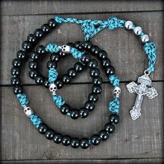 Memento Mori Skull Rosary - a reminder to go to confession.