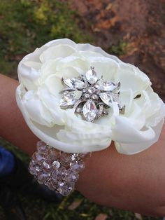 vintage wedding corsages and boutineers | Wrist Corsages! : wedding black bling boutonniere bridesmaids corsage ...