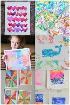 21 kids art projects that are wall worthy art activities for kids, preschoo Art For Kids, Crafts For Kids, Arts And Crafts, Kid Art, Fun Crafts, Simple Crafts, Kids Fun, Big Kids, Fantasy Magic