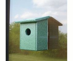 Birdhouse Recycled Plastic Window Nest View Bird House Made in USA