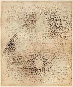 "Knotwork Pattern … and it looks remarkably similar to the few copper plate engravings that remain of the knotwork emblems he designed for his ""Academia Leonardi Vinci"""