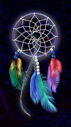 Rainbow Feathers Dream Catcher Cross Stitch Printable Needlework Pattern (This is NOT a kit, floss and fabric NOT included).