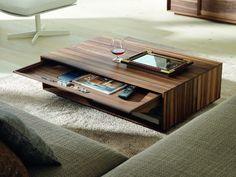 Lux moderní dřevěný konferenční stolek se zásuvkou / modern coffee table
