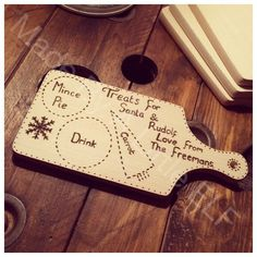 A personal favourite from my Etsy shop https://www.etsy.com/uk/listing/251473418/christmas-eve-board-plate-santa-treat