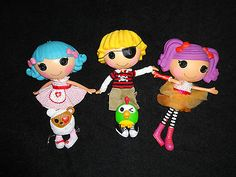 lalaloopsy full size dolls boys and girls. Each have there own personality and pet.