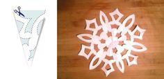 Jak zrobić śnieżynki z papieru – szablony (DIY)   Mamotoja.pl Xmas, Christmas, Diy, Kindergarten, Google, Paper, Bricolage, Navidad, Navidad