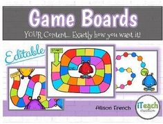 Editable Board Game Templates Colorful Monsters