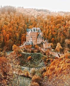 """Maple Leaves and Mistletoe on Instagram: """"😍🧡🍁 Be still my heart! Germany is stunning in the fall! 🍁 🍁 🍁 ***This photo is not mine. Msg me if you know the @ so I can tag them in it.…"""" Beautiful Castles, Beautiful World, Beautiful Places, Places To Travel, Places To See, Travel Destinations, Autumn Aesthetic, Jolie Photo, Adventure Is Out There"""