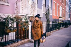 Outfit Details: Banana Republic Trench c/o (similar here and here), Charter Club Turtleneck (sold out, similar here), Helmut Lang Pants, Burberry Beanie, Celine Bag, Burberry Gloves, Gianvito ...