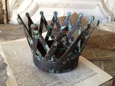 Metal Crown by SassyVintageBarn on Etsy, $22.99