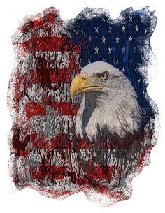 eagle tshirt patriotic tee red white blue tee by OriginalMindsTees