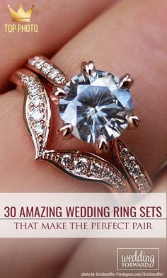 30 Wedding Ring Sets That Make The Perfect Pair❤️Wedding ring sets become more and more popular among couples. See more: https://weddingforward.com/wedding-ring-sets/ #wedding #rings #weddingring
