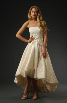 The Cotton Bride Magdalene Dress. Made from Birch Leaf Cotton Lace..