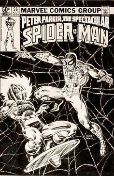 Comic Book Display, Comic Book Pages, Comic Book Artists, Comic Book Covers, Comic Artist, Comic Books Art, Original Spiderman Comic, Spiderman Comic Books, Spiderman Art