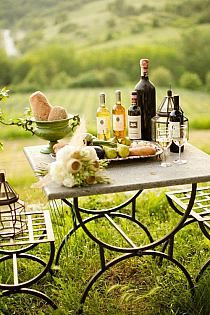 table pic nic vin pour l 39 ext rieure le camping ou soir e vin et fromage en pleine air. Black Bedroom Furniture Sets. Home Design Ideas