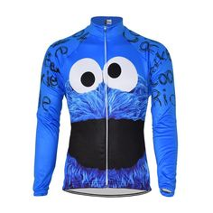 Cookie Monster Winter/Long-Sleeve Cycling Jersey - The Cool Dude Shop Cycling Wear, Cycling Girls, Bike Wear, Cycling Jerseys, Cycling Outfit, Women's Cycling, Cycling Workout, Bicycle Clothing, Cycling Clothing