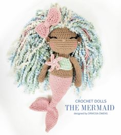 Image 0 new and amazing amigurumi crochet pattern design ideas and images page 17 of 42 Crochet Doll Pattern, Crochet Patterns Amigurumi, Crochet Dolls, Amigurumi Doll, Crochet Crafts, Crochet Projects, Free Crochet, Magic Ring Crochet, Mermaid Dolls
