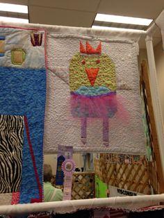 """McKennas """"baby birdie ballerina"""" quilt 2014"""