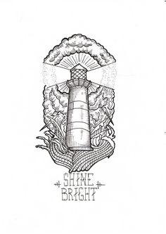 lighthouse tattoo drawing - Recherche Google