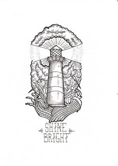 lighthouse tattoo drawing - Recherche Google