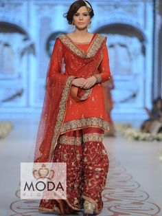 Best heavy and beautiful bridal gharara collection.