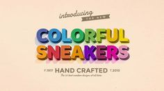 Animated Colorful Sneakers