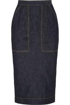 Tomas Maier|Denim pencil skirt|NET-A-PORTER.COM