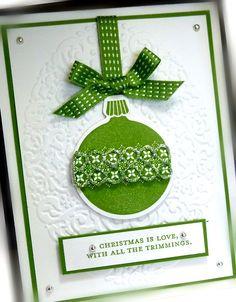 love a green christmas card