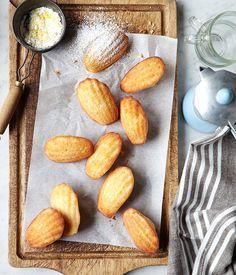 Australian Gourmet Traveller classic dish recipe for madeleines with lemon sugar. /