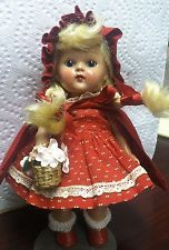 """VOGUE Ginny Strung Doll"""" Red Riding Hood"""" (1950's)"""