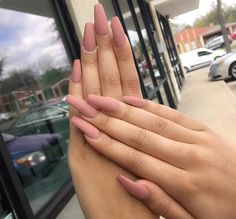 tan matte coffin nails - Google Search