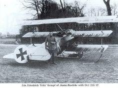 Ltn. Friedrich Kempf of Jasta Boelke with Fokker Dr1 213/17