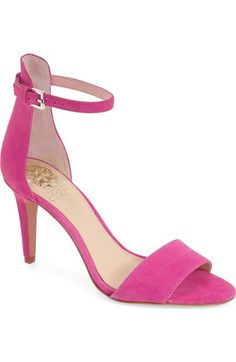 Court Heel Sandal by Vince Camuto on Ankle Straps, Ankle Strap Sandals, Strappy Sandals, Bride Shoes, Wedding Shoes, Pink Heels, Stiletto Heels, Court Heels, Vince Camuto