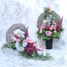 Funeral Flower Arrangements, Funeral Flowers, Floral Wreath, Wreaths, Home Decor, All Saints Day, Floral Crown, Decoration Home, Door Wreaths
