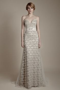Ersa Atelier Preview 2013. We don't even care that this dress isn't even close to white or ivory! So beautiful!
